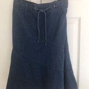 Sag Harbor Denim Skirt L
